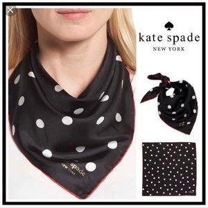 Kate Spade ♠️ Polka Dot Silk Scarf